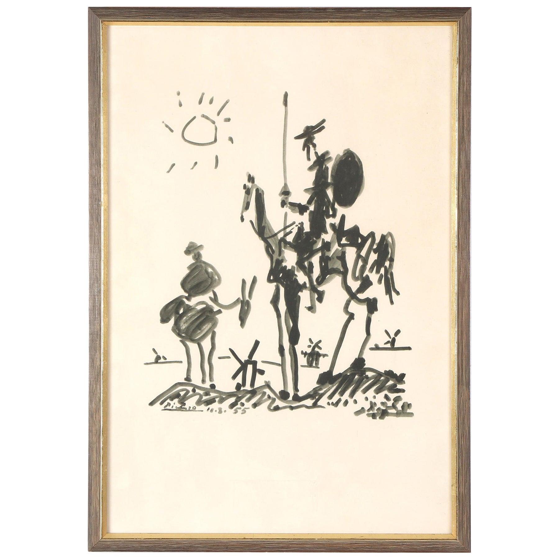 After Pablo Picasso, Don Quixote, Lithograph