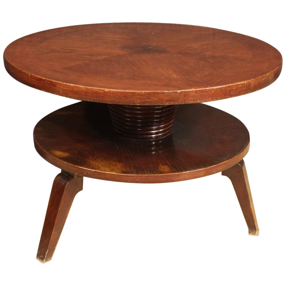 Italian Design Coffee Table in Beechwood, 20th Century