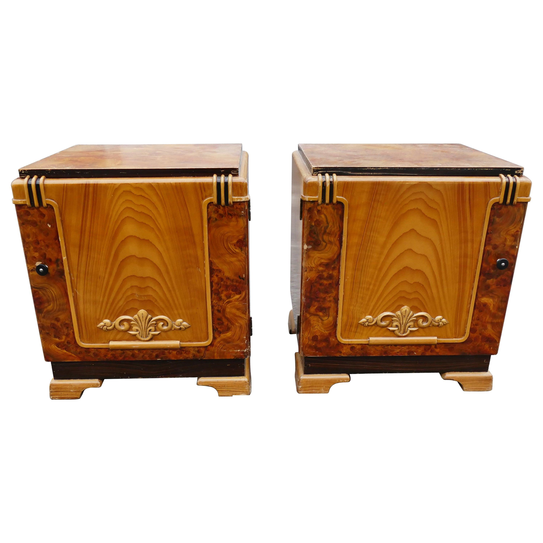 Art Deco Nightstands or Bedsidetables