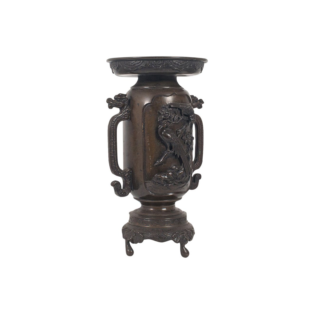 Decorative Vase, Japanese, Bronze, Meiji Period, Late 19th Century, circa 1900