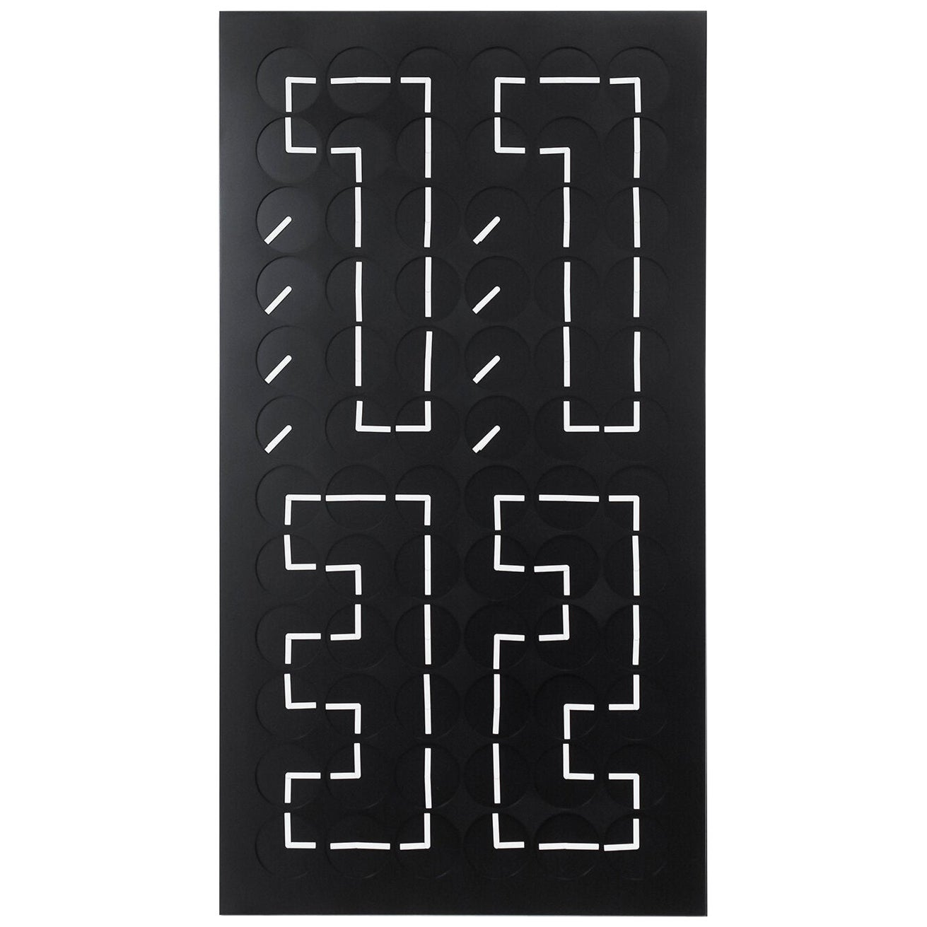 A Million Times 72V Black Wall Clock Wall Sculpture by Humans Since 1982