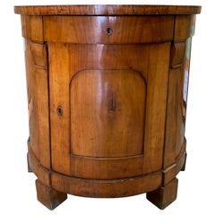 19th Century Continental Neoclassical Fruitwood Demilune Cabinet