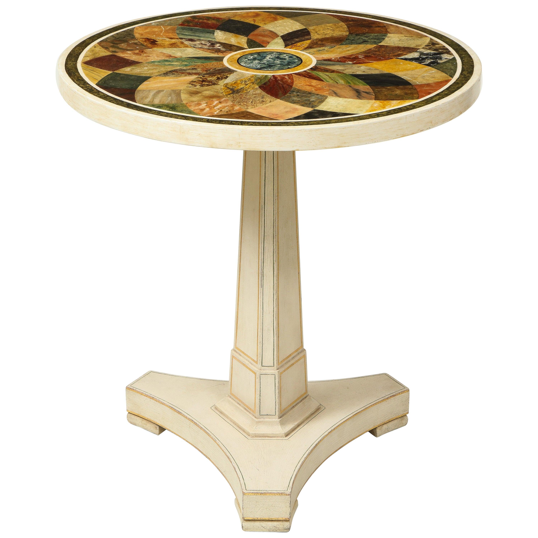 Regency Style Faux Specimen Marble-Top Center Table
