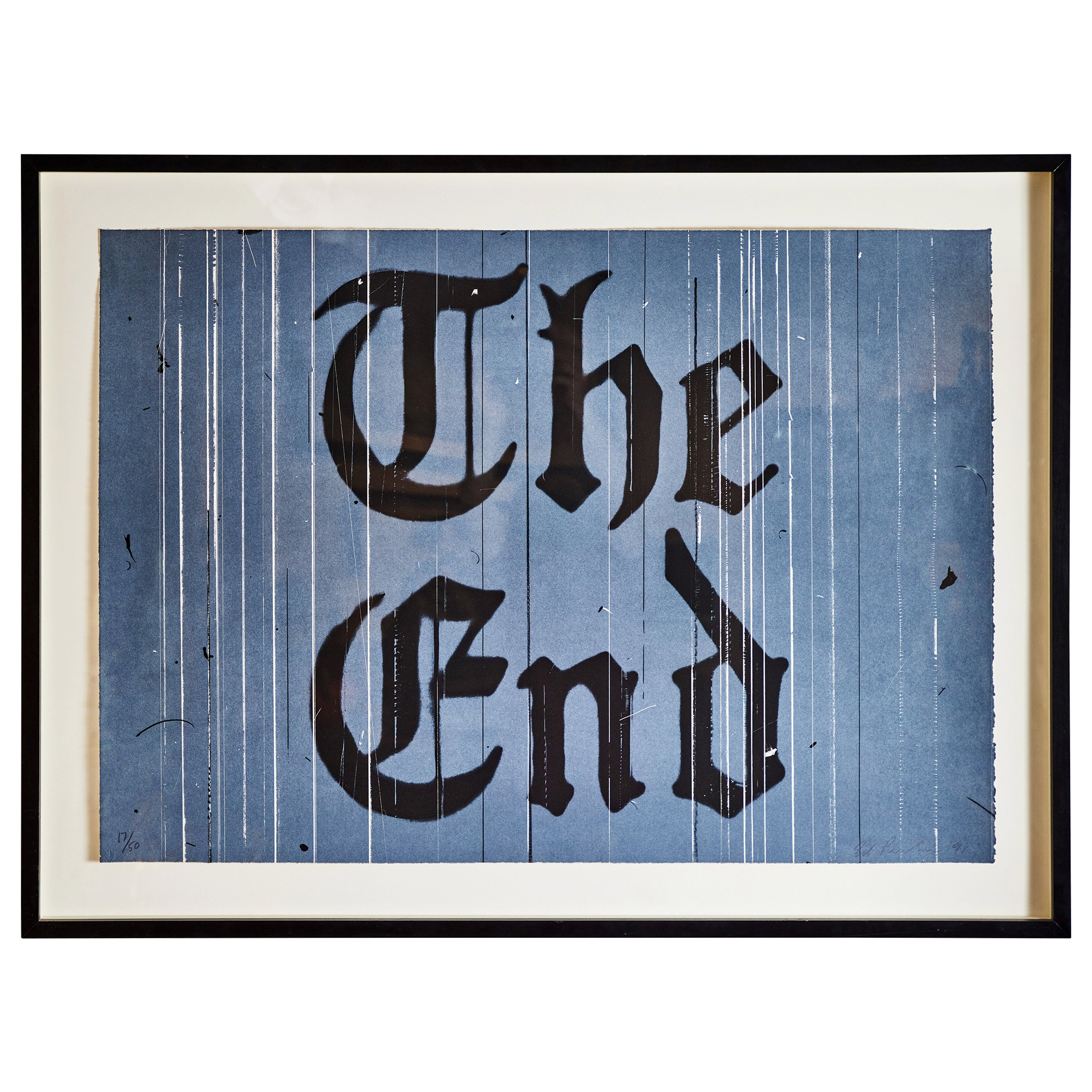 Signed, Numbered, Ed Ruscha Lithograph