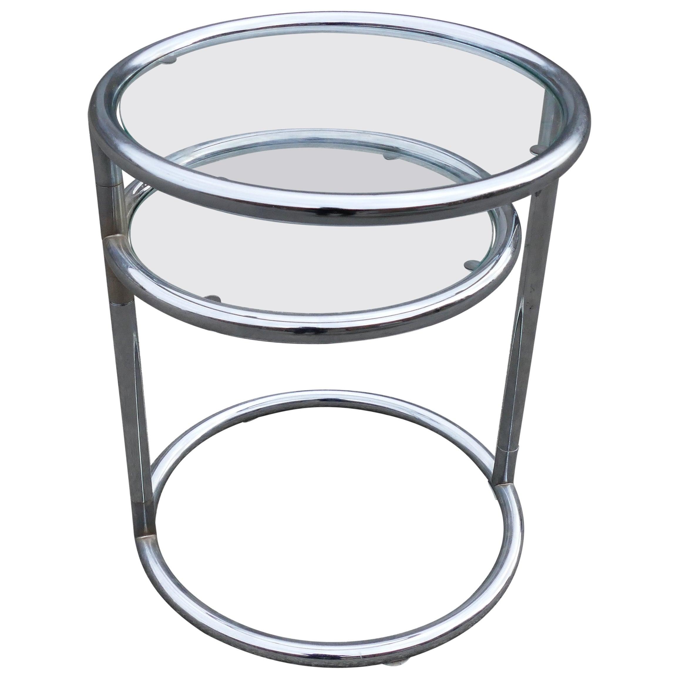 Chrome Glass Table, 1970s