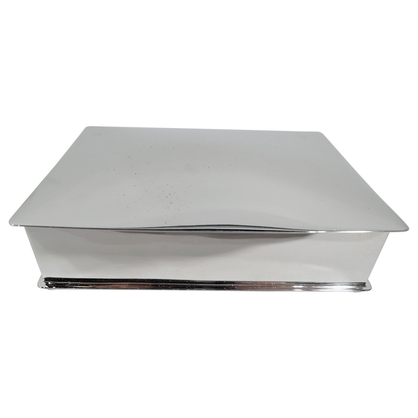 American Mid-Century Modern Handwrought Sterling Silver Box