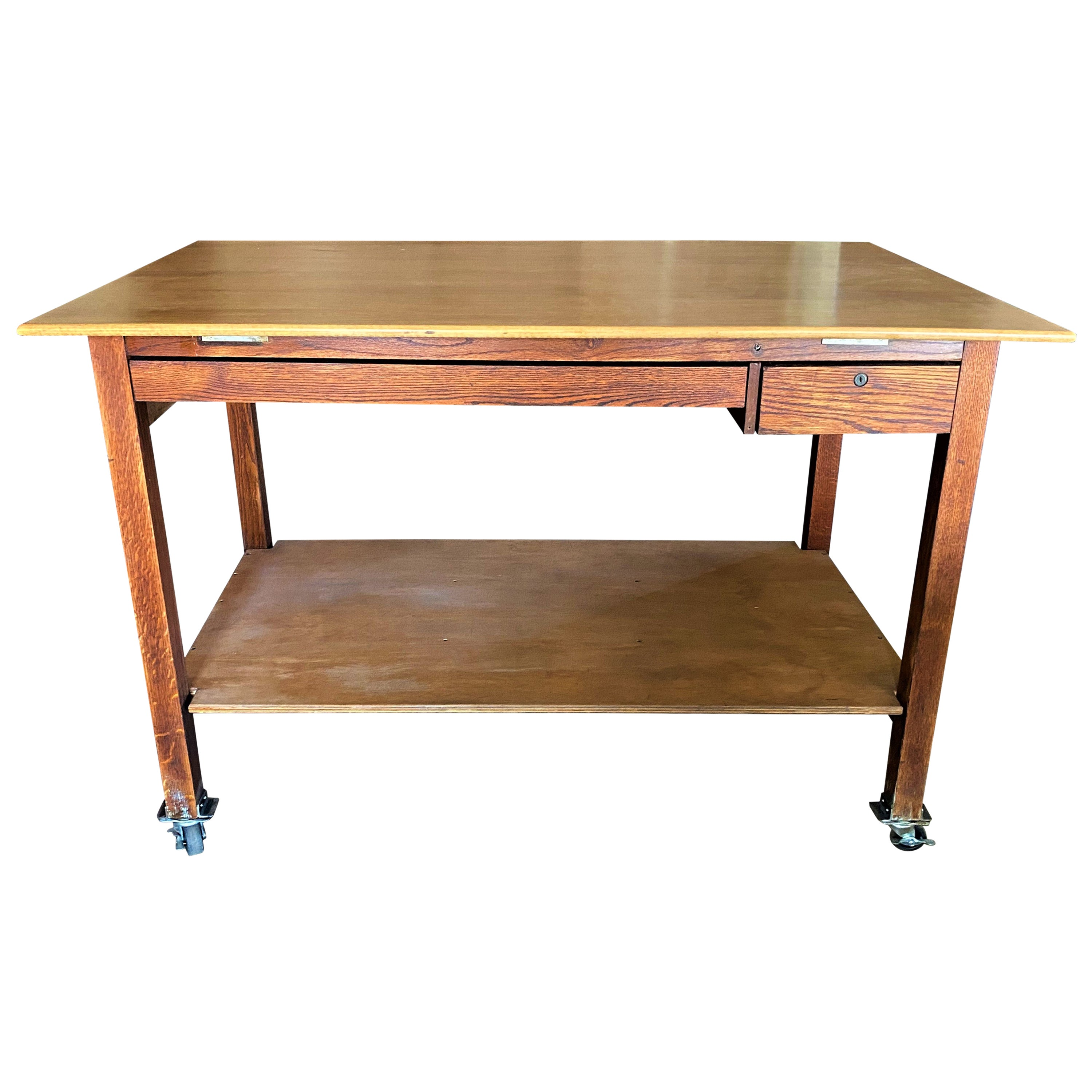 Drafting / Work Table on Casters