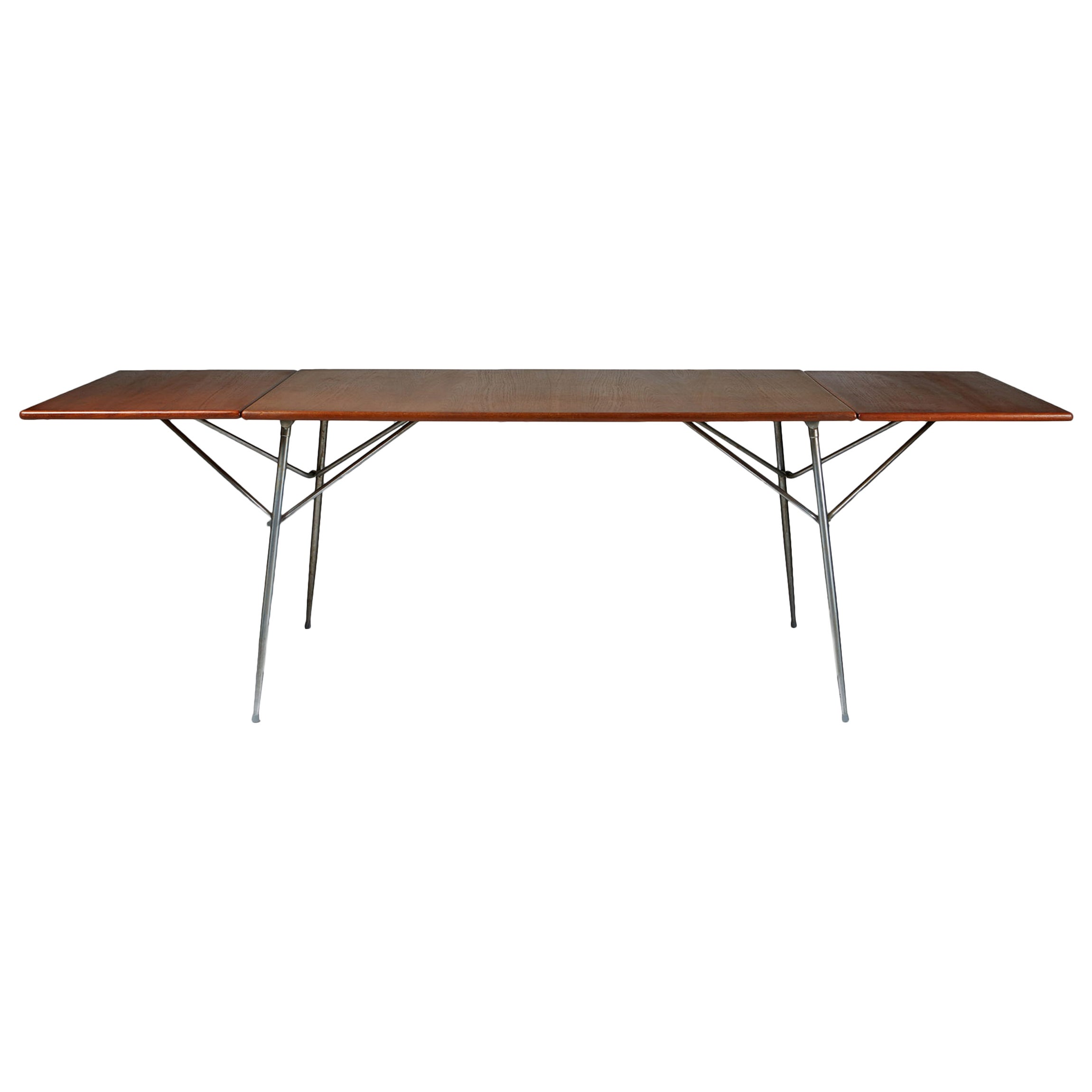 Drop-Leaf Desk or Dining Table by Børge Mogensen, Danish, 1950s