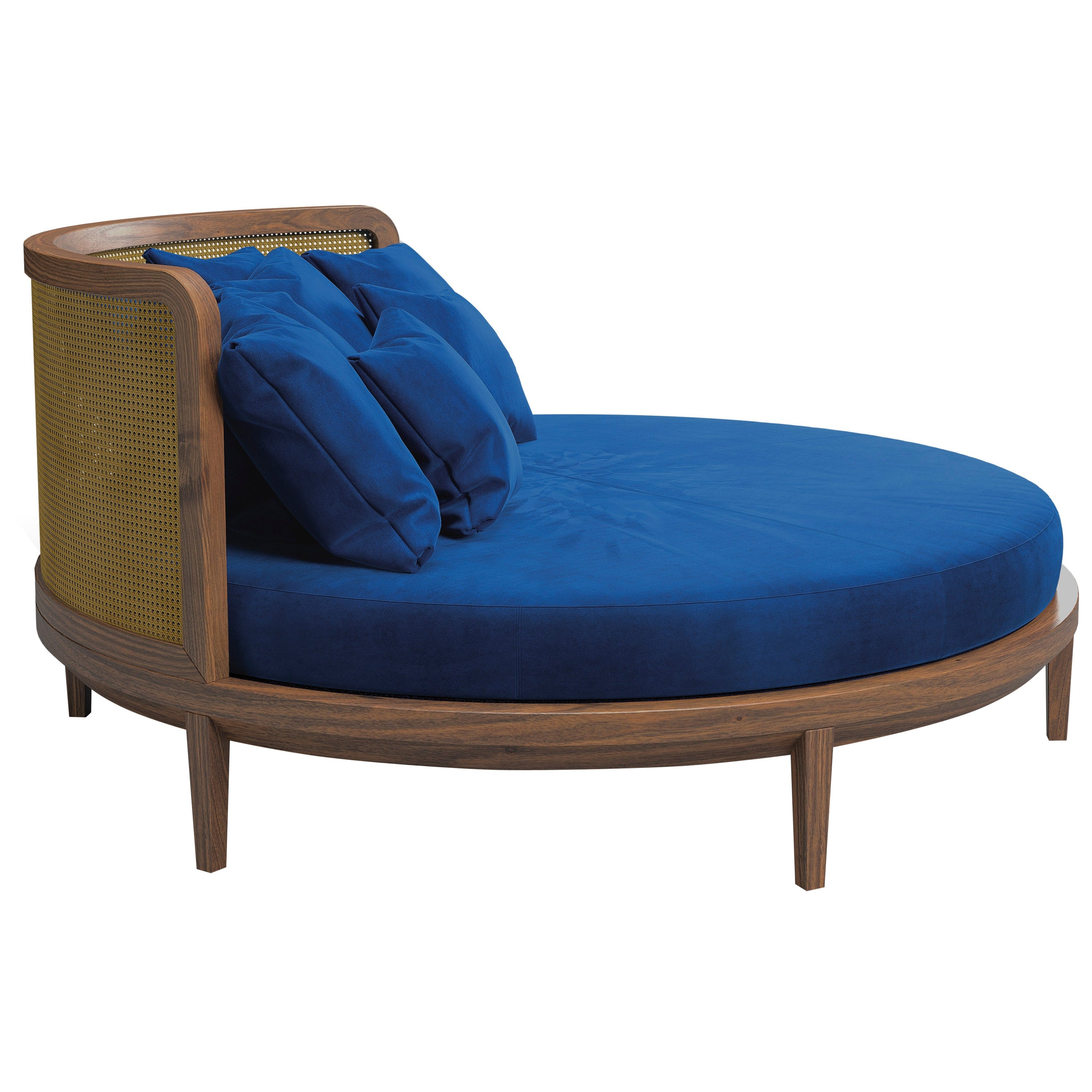 Contemporary Round Bed, Handmade in Italy