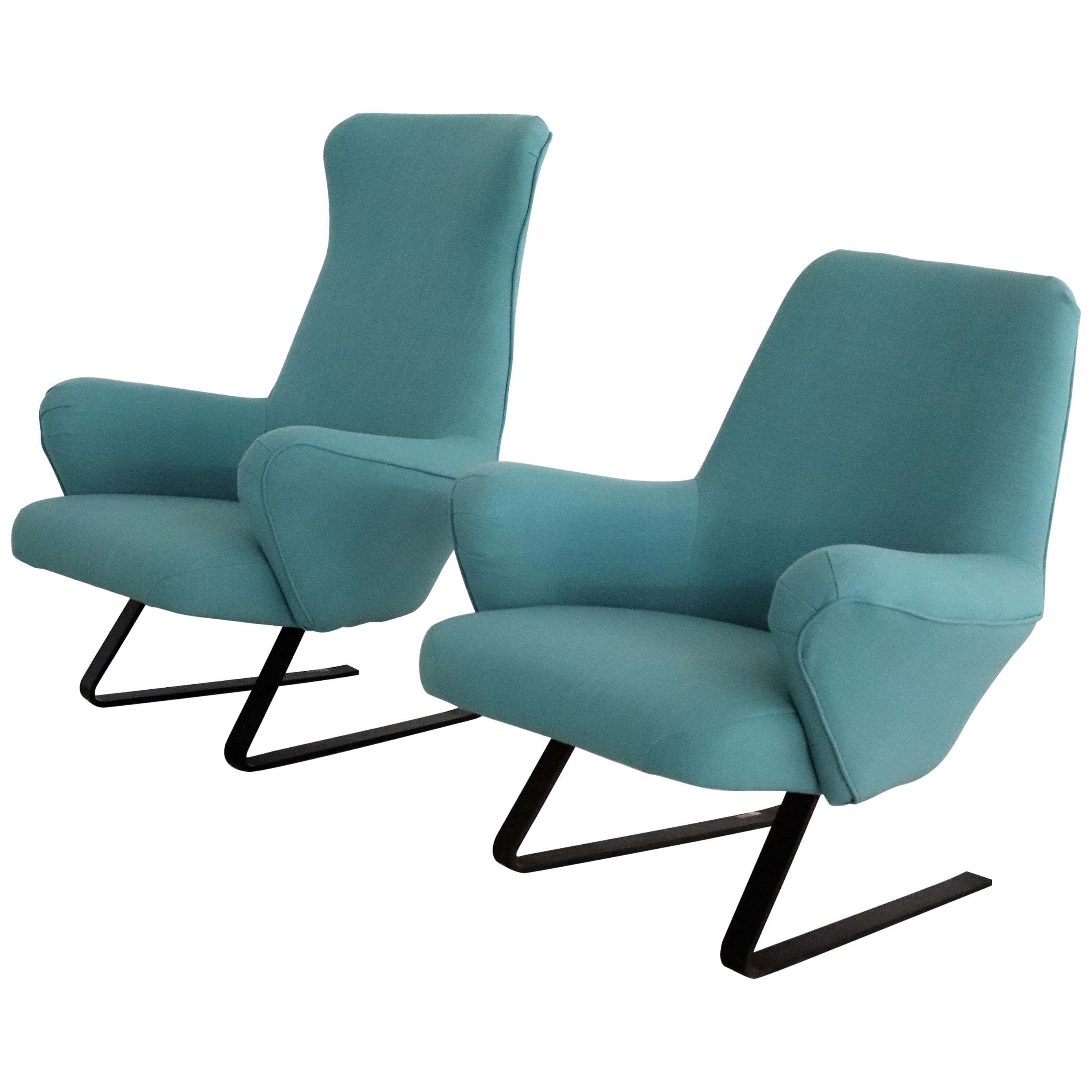 Italian Midcentury Rocking Armchairs by Gianni Moscatelli for Formanova, 1960s