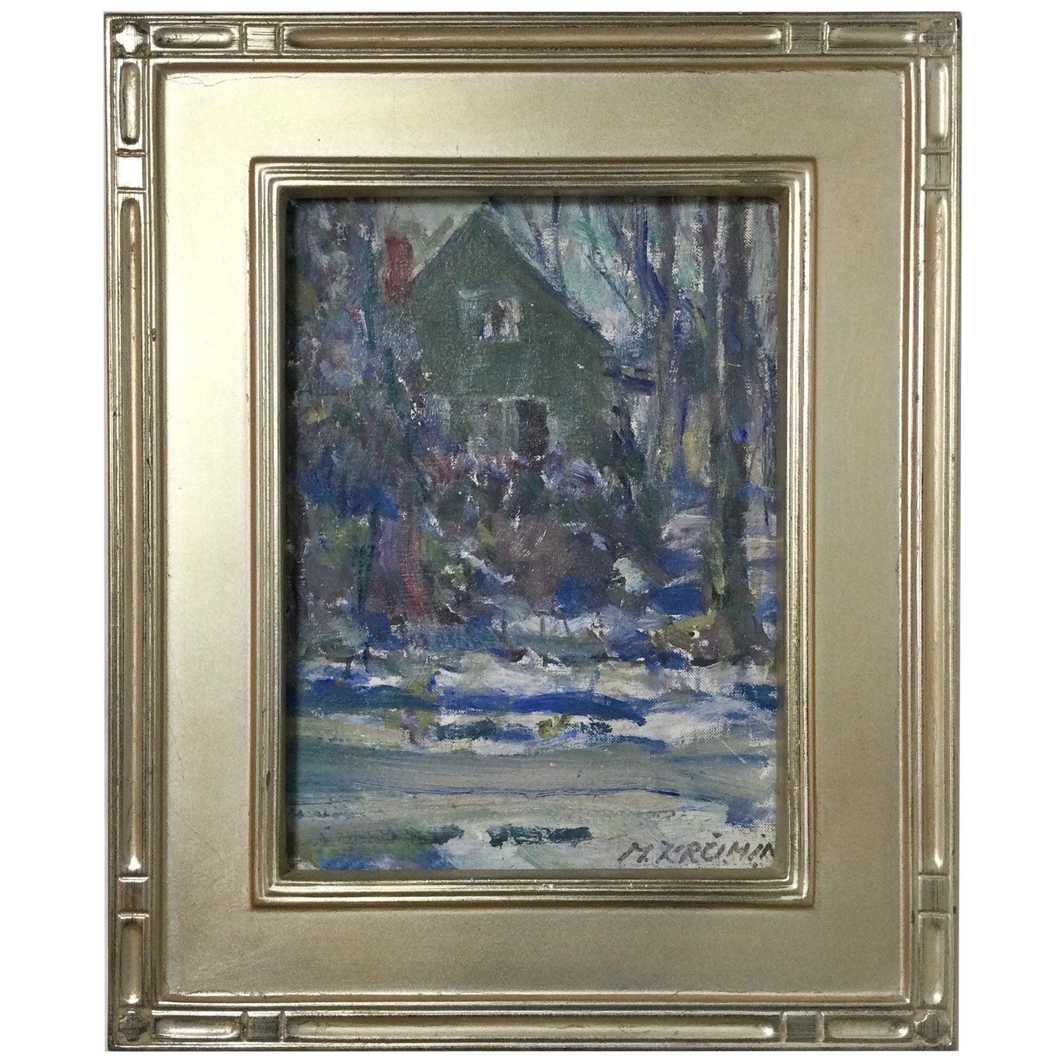 Impressionist Winter Scene Artist Martins Krumins, 1953