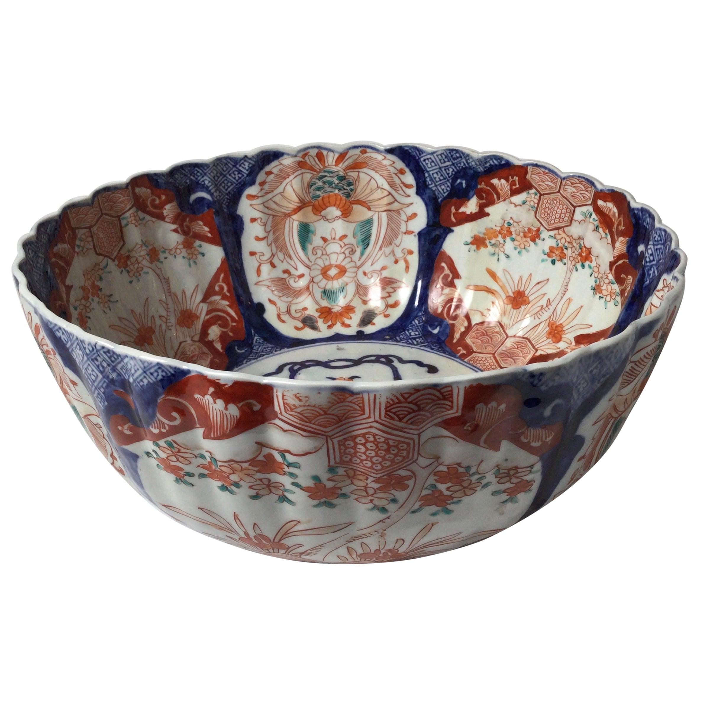 Antique Meiji Period Imari Porcelain Bowl