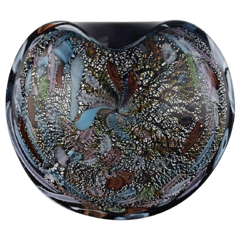 Murano Bowl in Colorful Mouth-Blown Art Glass, Italian Design, 1960s
