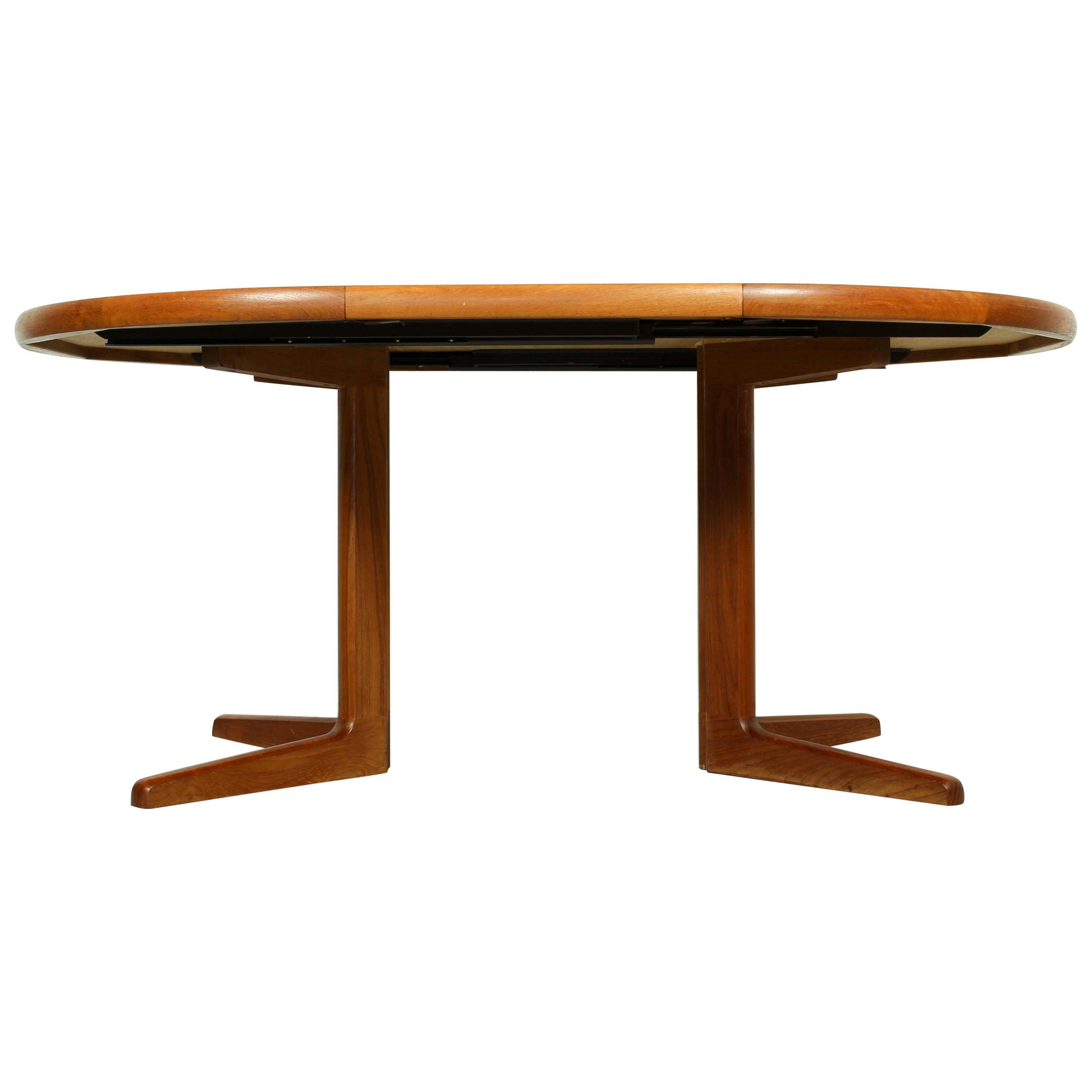 Mid-Century Modern E. Valentinsen Style Danish Teak Expandable Dining Table