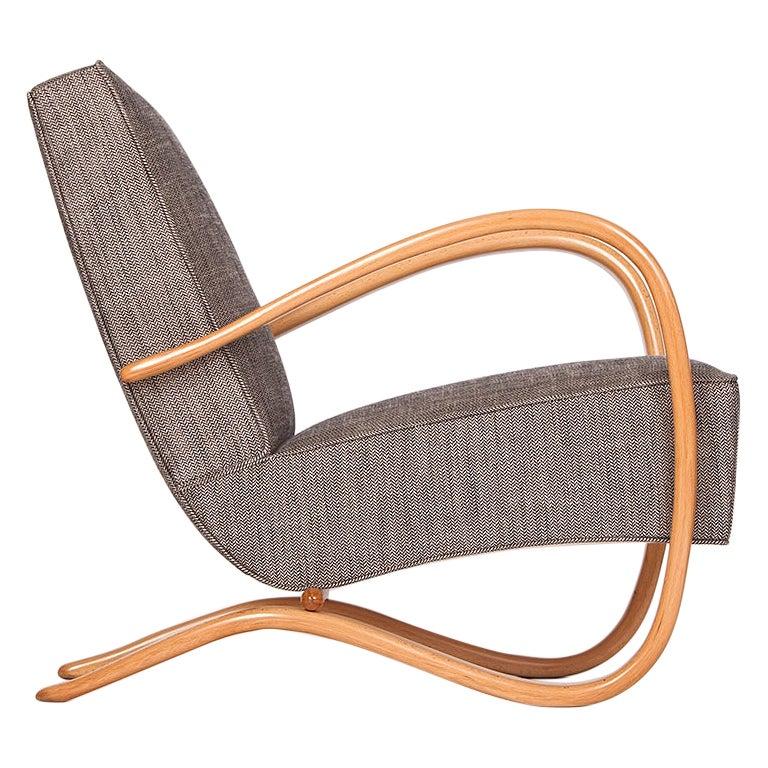 Streamline Chair H-269 by Jindřich Halabala for Spojene UP Zavody, 1930s