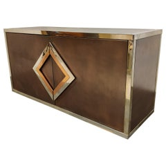 Brass and Copper Sideboard by Maison Jansen, 1970s