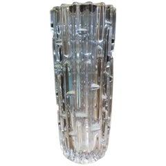 Frantisek Vizner, Sklo Union Czech Art Glass, the Maze', a Good Art Glass Vase
