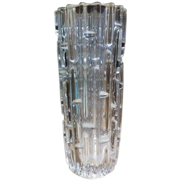 Frantisek Vizner, Sklo Union Czech Art Glass, the Maze', a Good Art Glass Vase For Sale