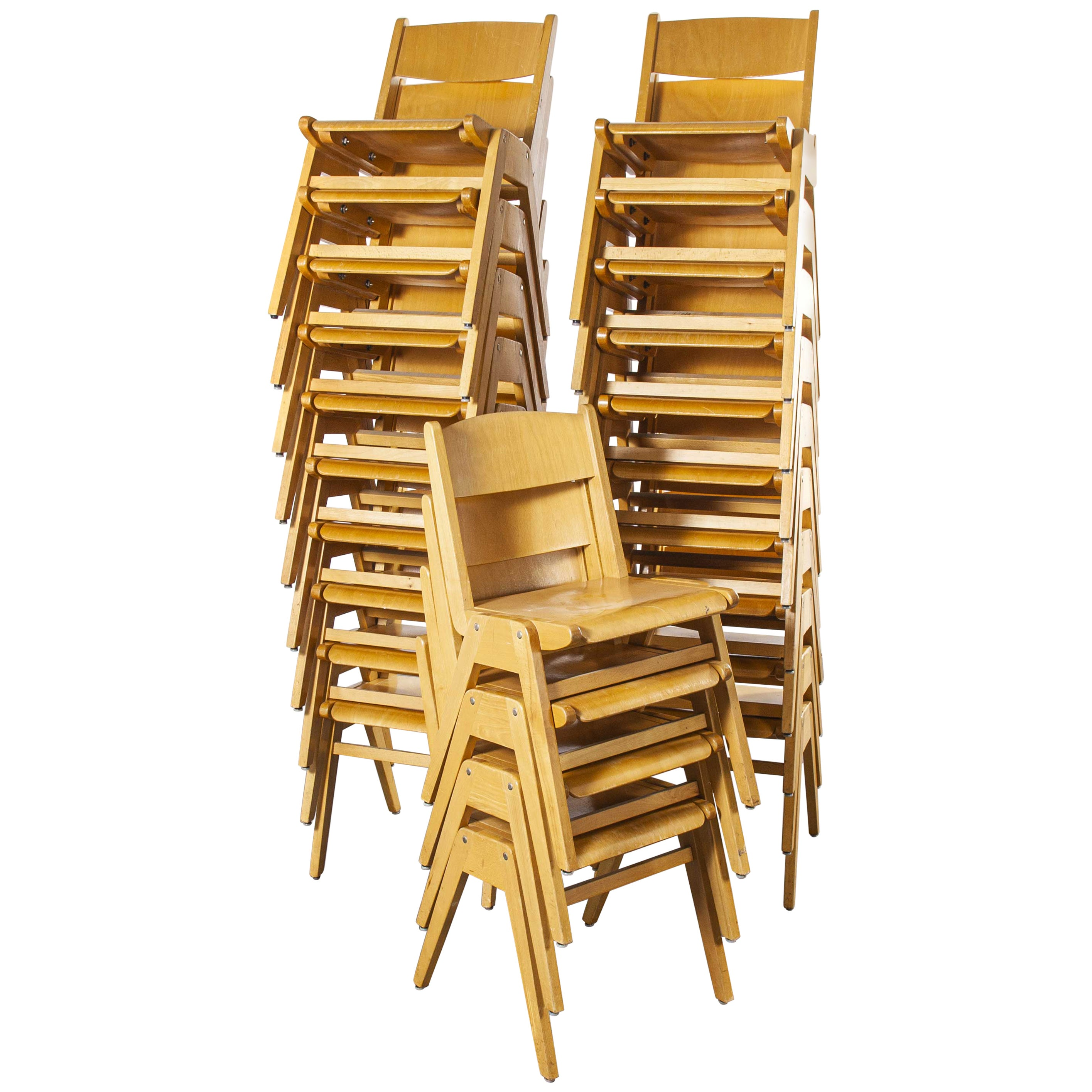 1970s Casala Stacking Dining Chair, Set of Twenty Four