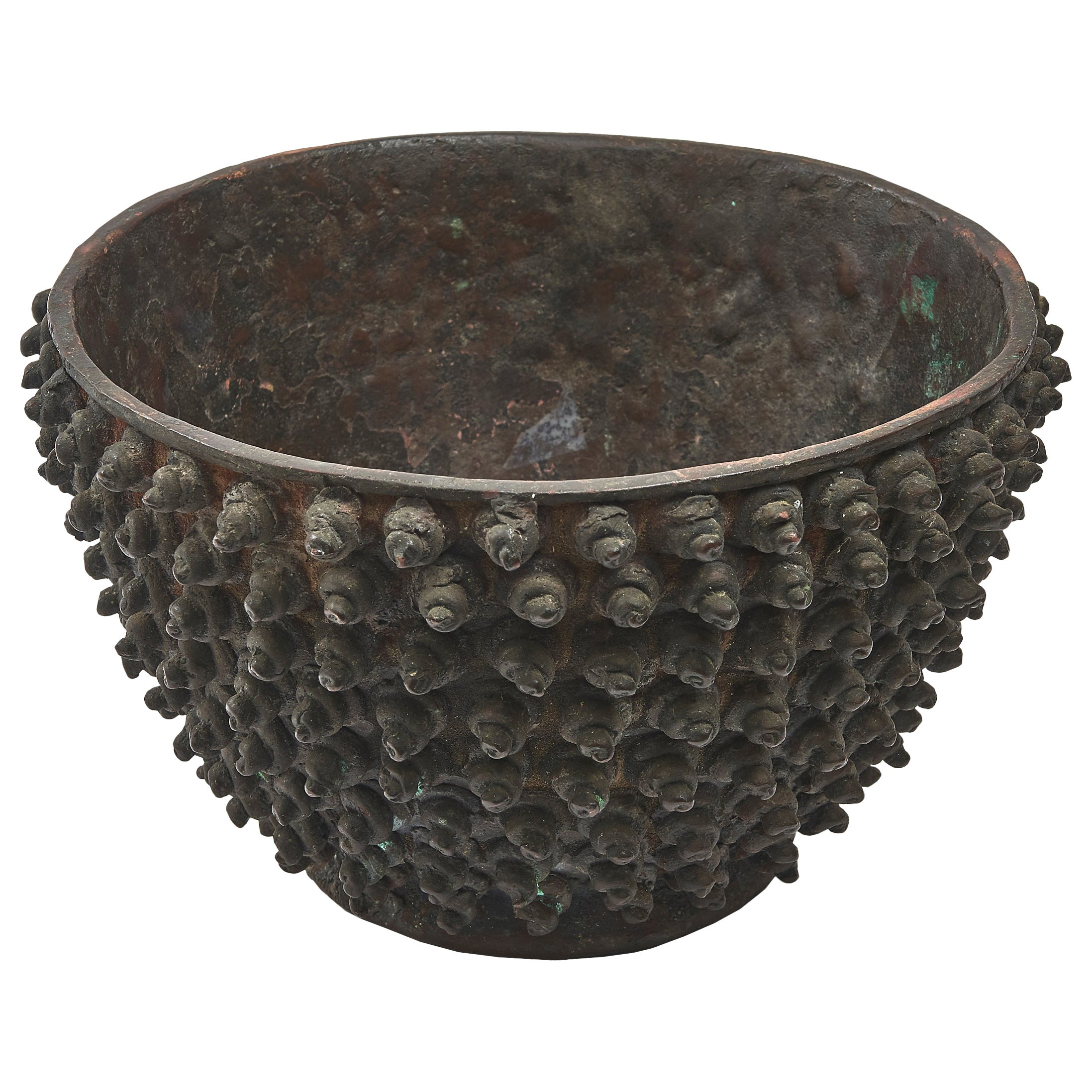 19th Century Chinese Studded Vase in Bronze