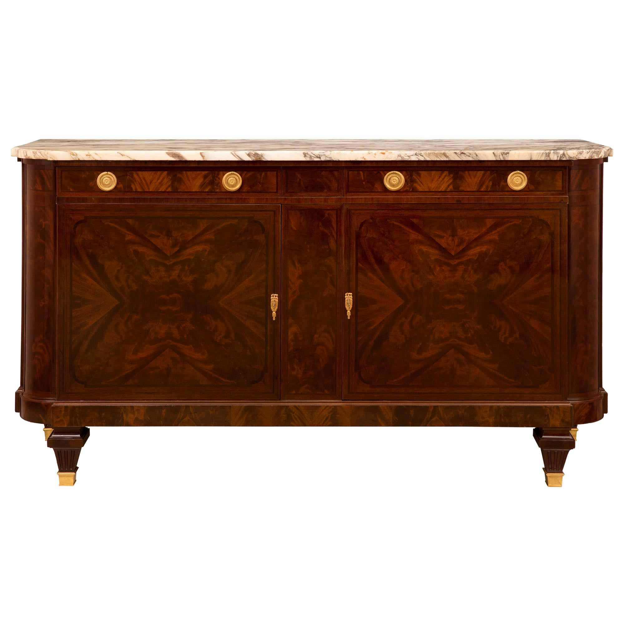 French 19th Century Louis XVI Style Crouch Mahogany Buffet