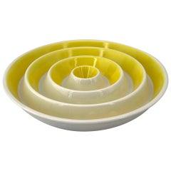 1950s Yellow Bullseye Ashtray Dish La Gardo Tackett Los Angeles Japan Architect