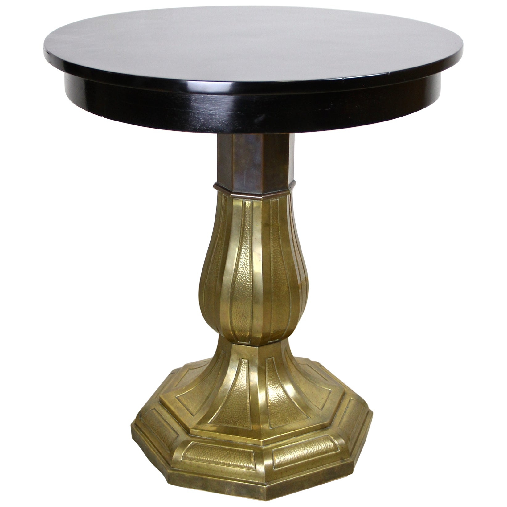 Art Nouveau Coffee/ Side Table with Brass Base, Austria, circa 1910