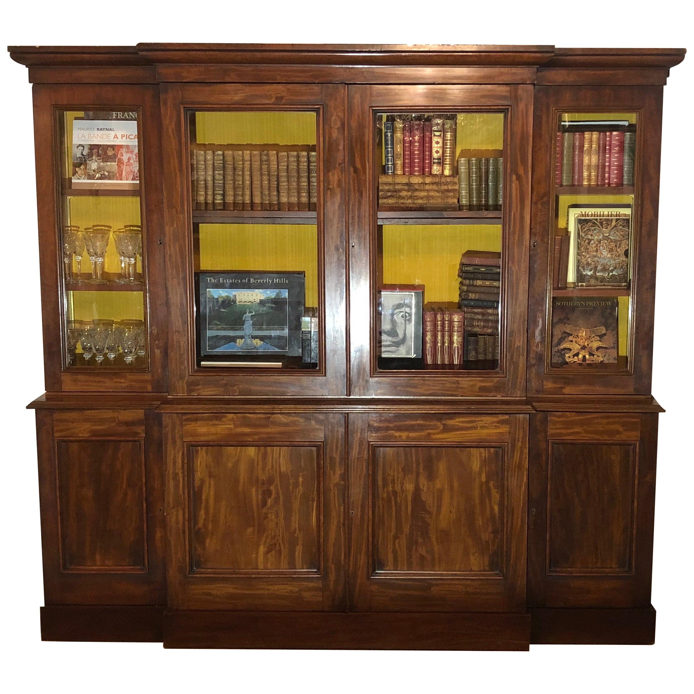 19th Century English Victorian Mahogany Bookcase