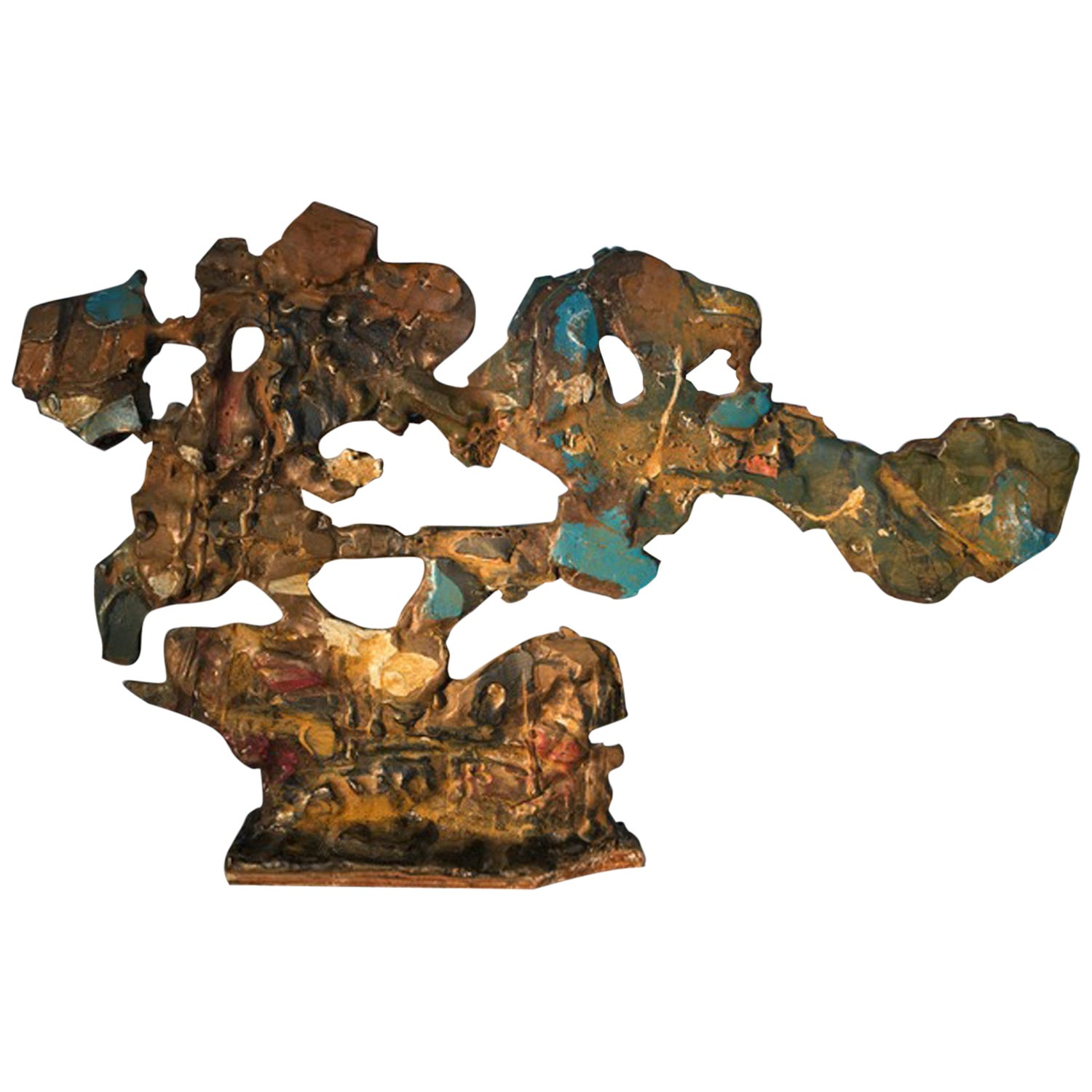 Italy 1985 Postmodern Abstract Bronze Sculpture