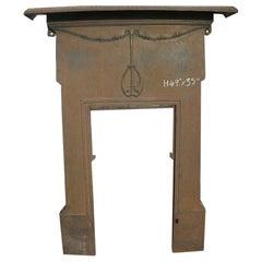 Arts & Crafts / Art Nouveau Cast Iron Fireplace with Stylised Floral Details