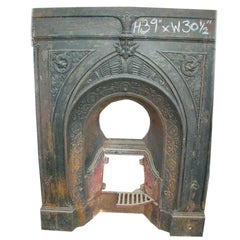 Aesthetic Movement Fireplace with Stylised Dragons & Repeating Sun Flowers