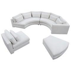 Thayer Coggin Round Sectional Sofa in off White
