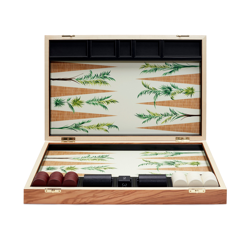 Palm Backgammon Board by Alexandra Llewellyn