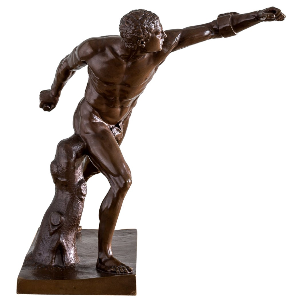 Mid-19th Century French Bronze Figure of the Borghese Gladiator