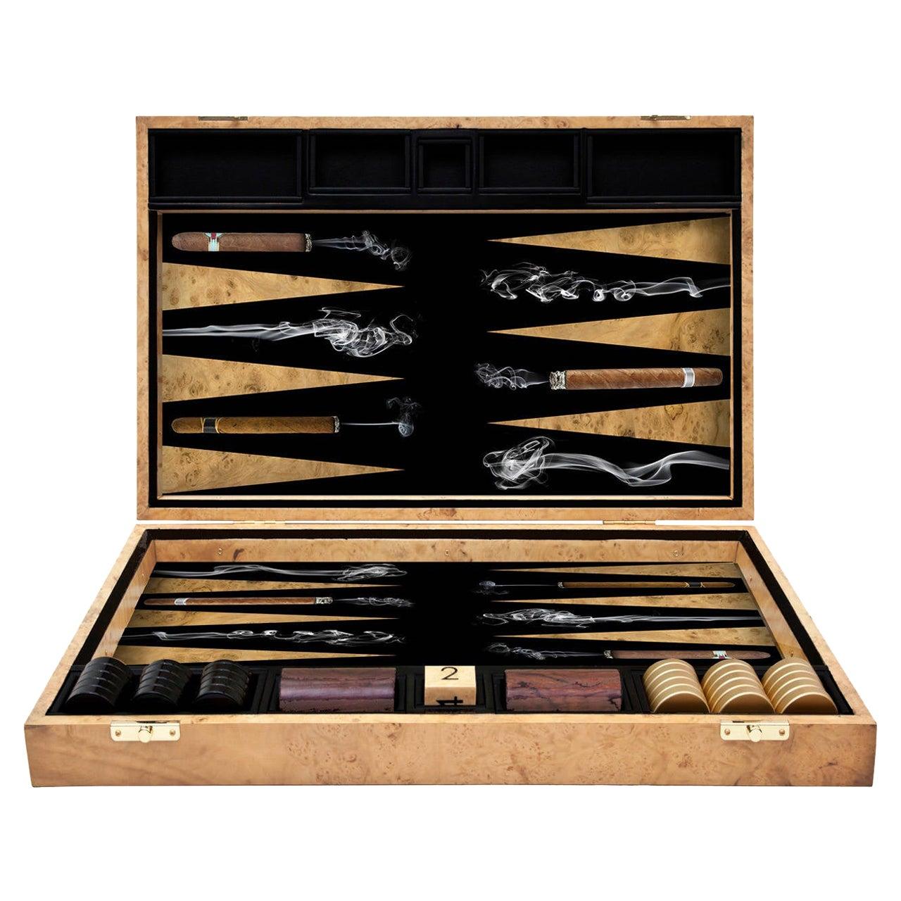 Cigars Backgammon Board by Alexandra Llewellyn
