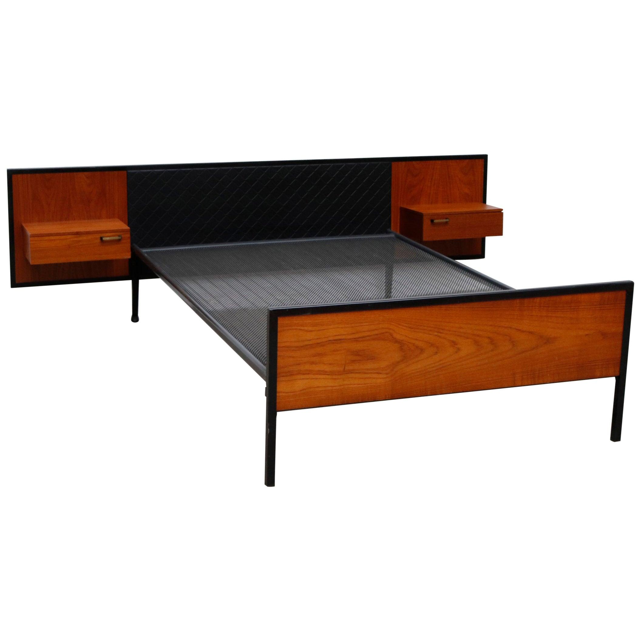 Midcentury Bed with Built in Nightstands