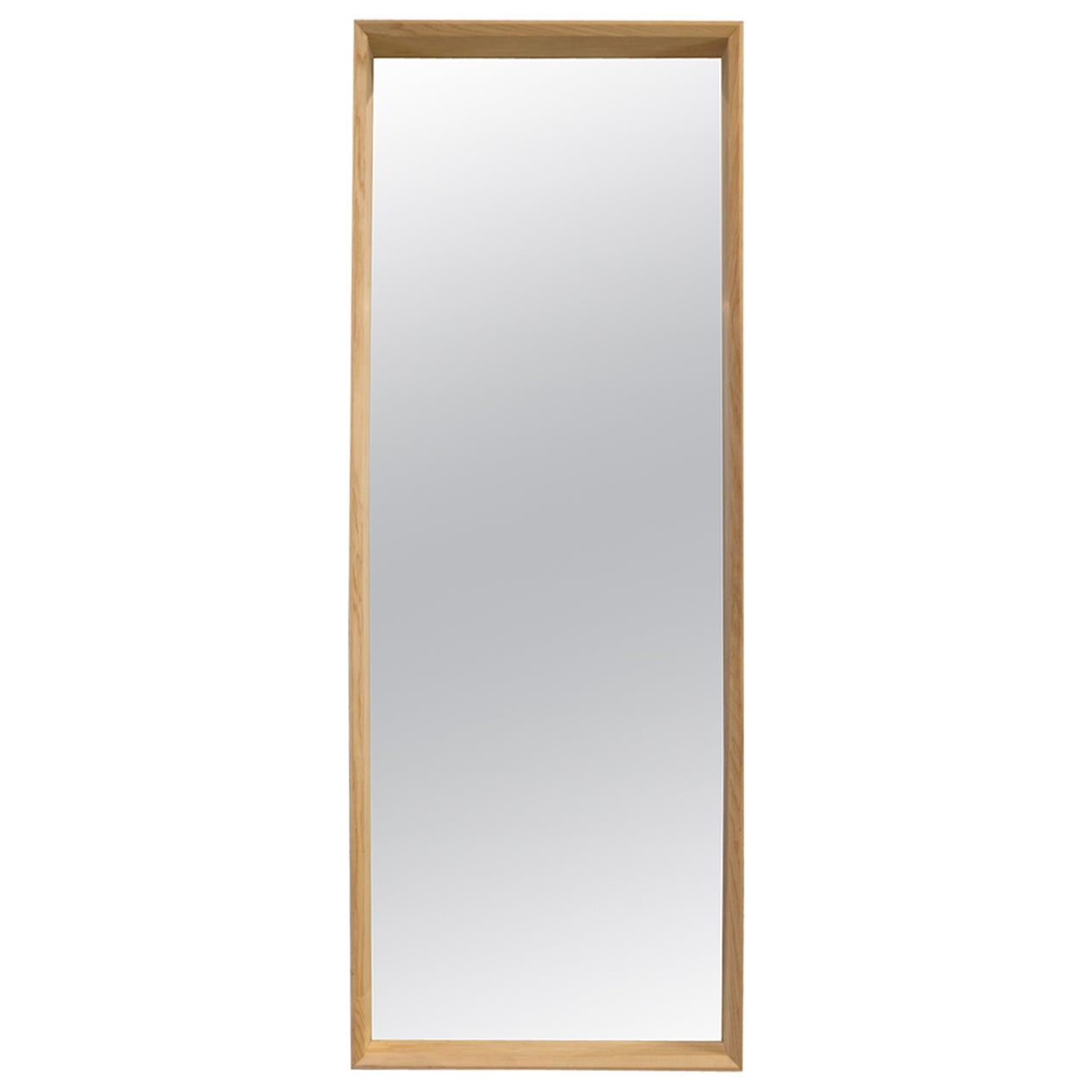 Floor Standing Handmade Large Format Hardwood Ash Mirror