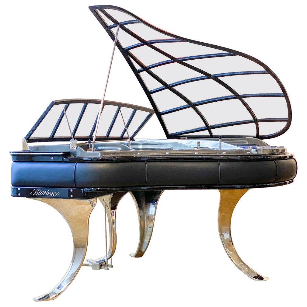 PH Grand Piano PH150 Excellence, Black Leather and Chromed Details