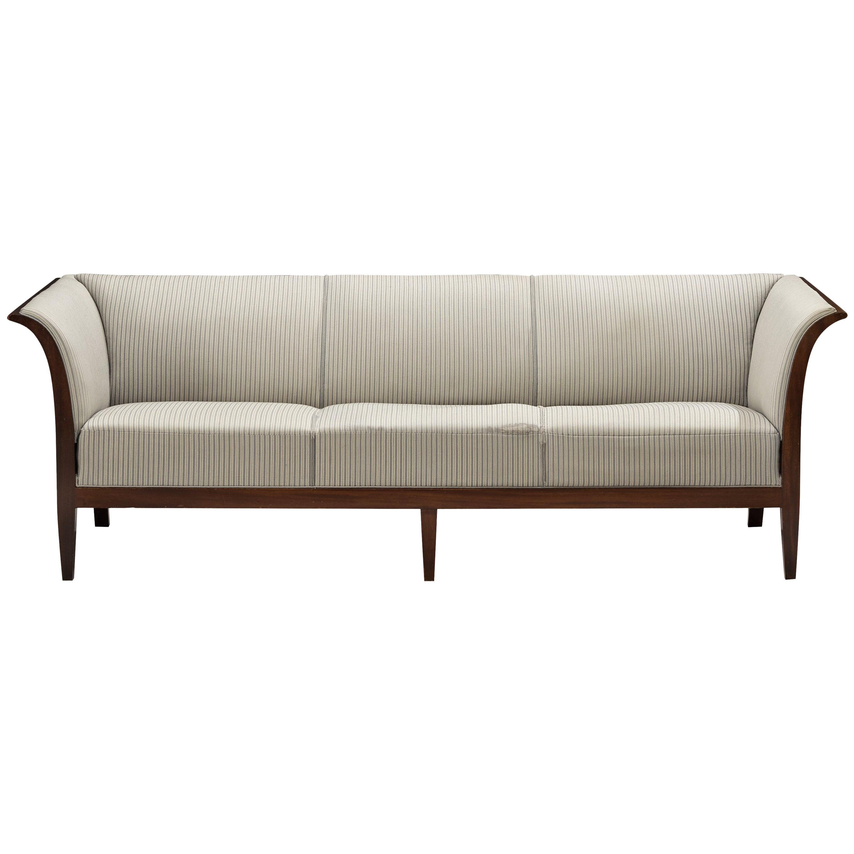 Frits Henningsen Sofa in White Fabric Upholstery