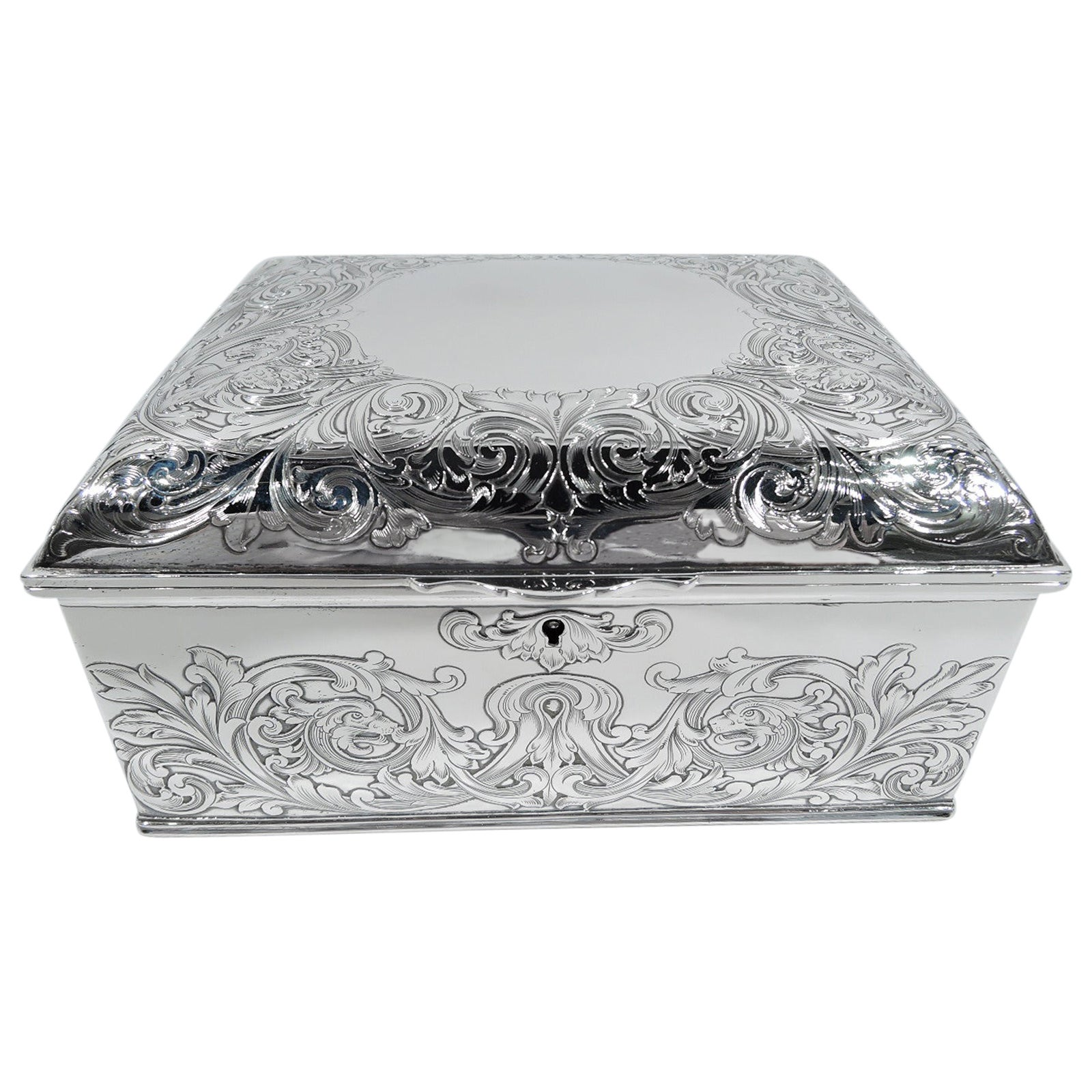 Antique Gorham Art Nouveau Sterling Silver Jewelry Box