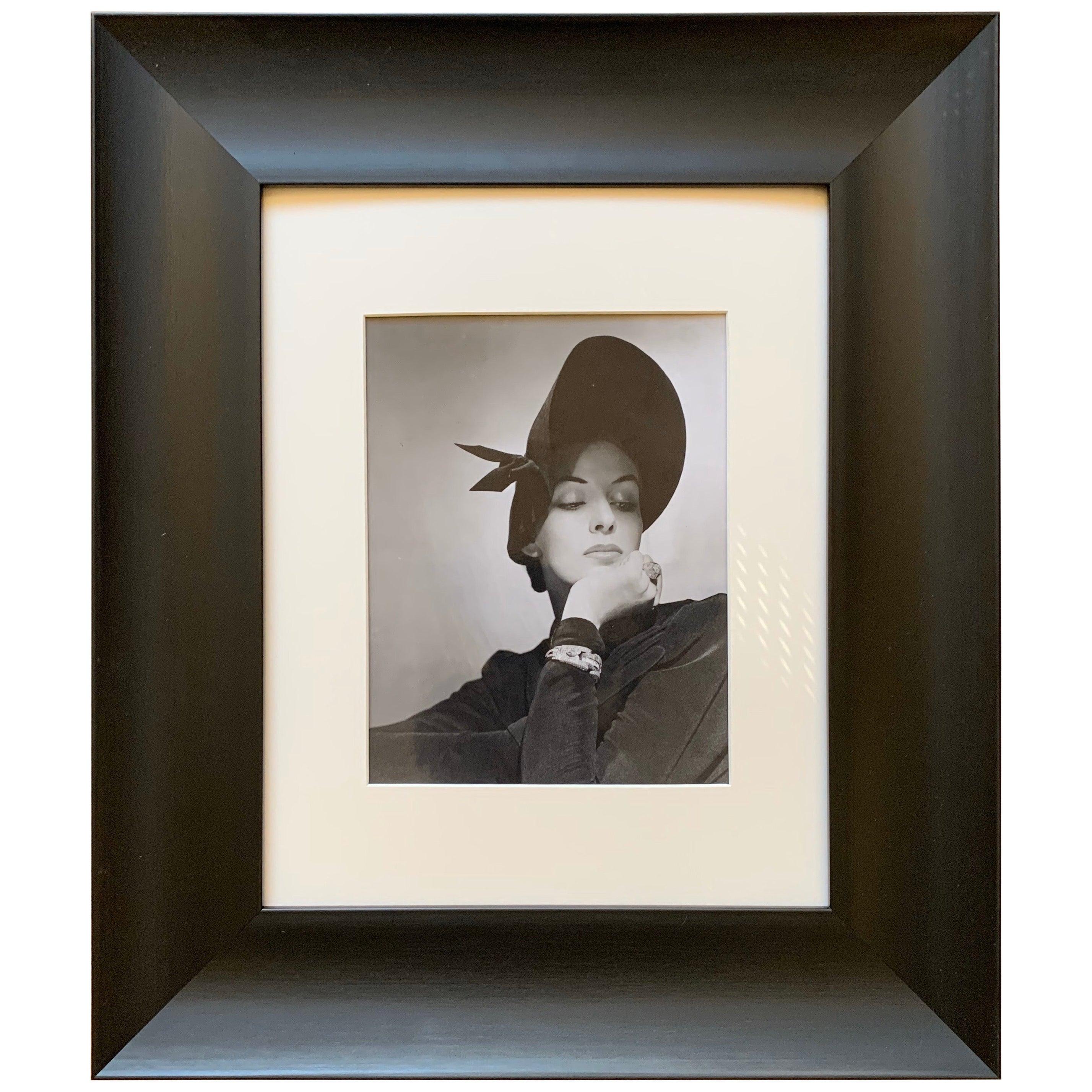 George Platt Lynes Original B&W Photograph Portrait, Vogue Magazine