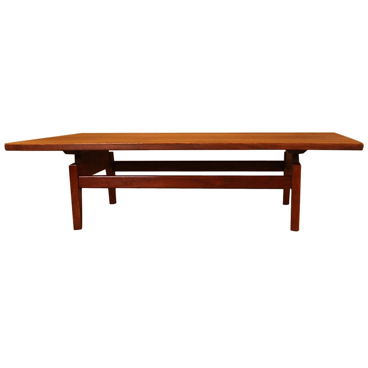 Midcentury Jens Risom Floating Top Coffee Table Bench