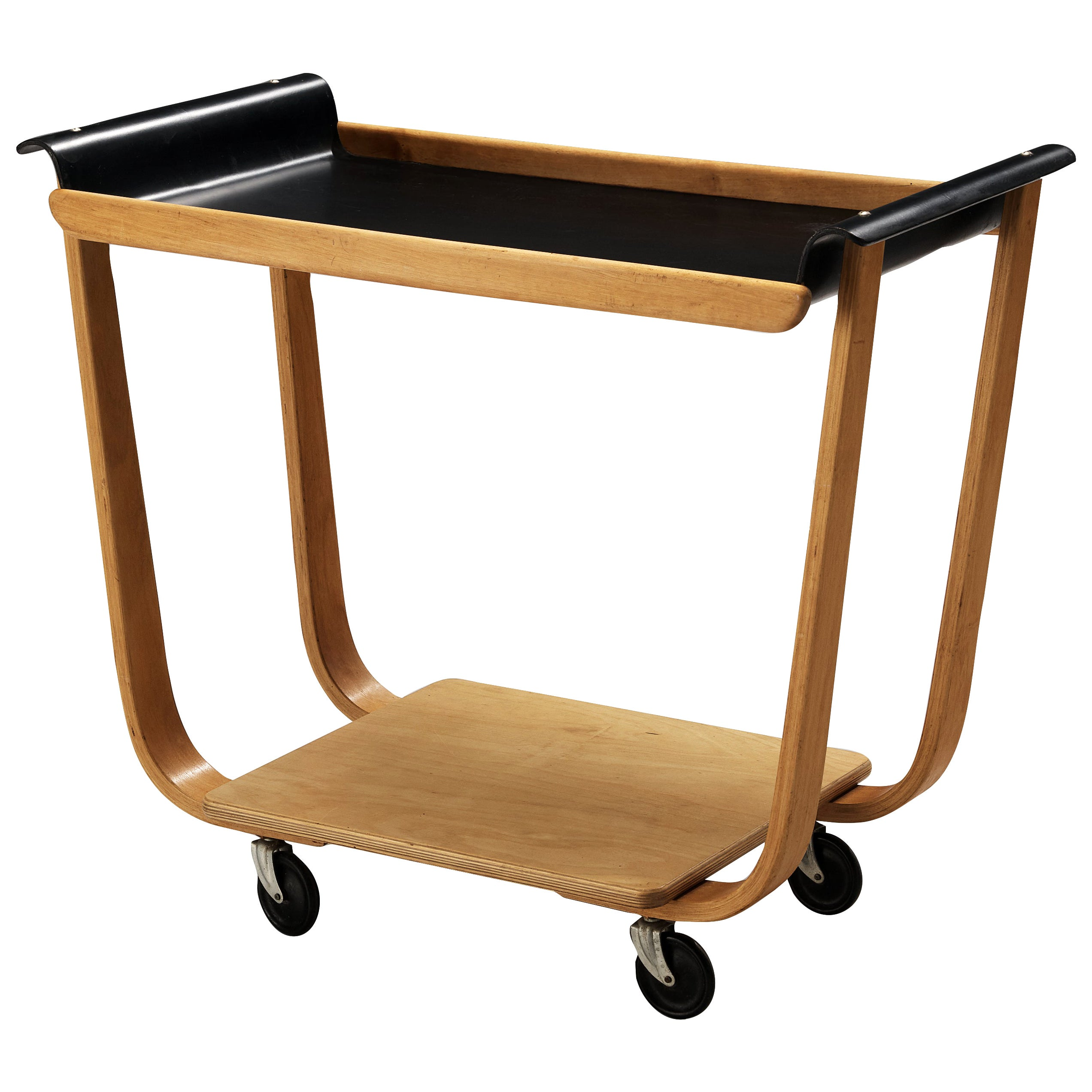 Cees Braakman for Pastoe Serving Trolley 'Rolo PB31' in Plywood