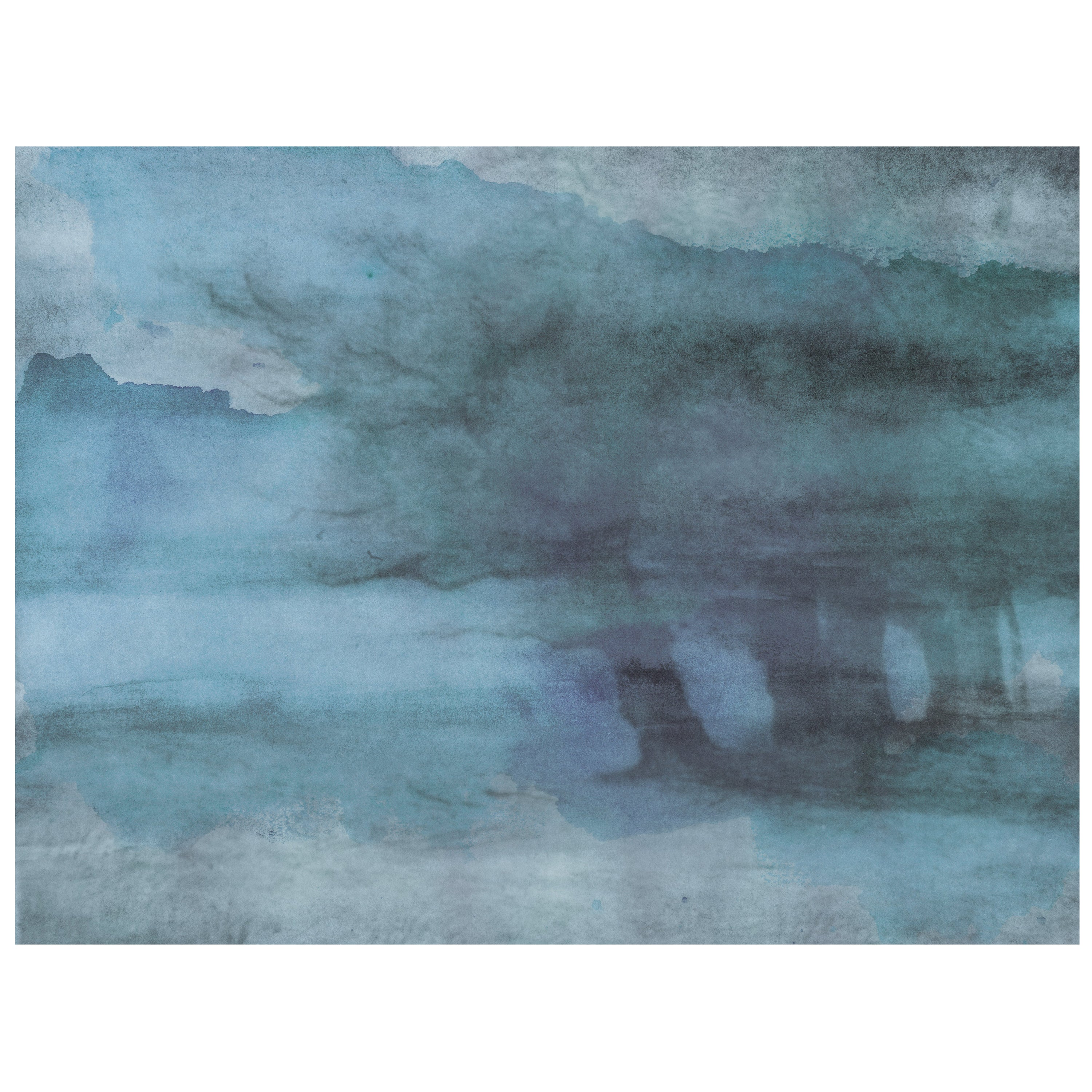 Brume du Tibet - custom mural wallpaper (faded blue)