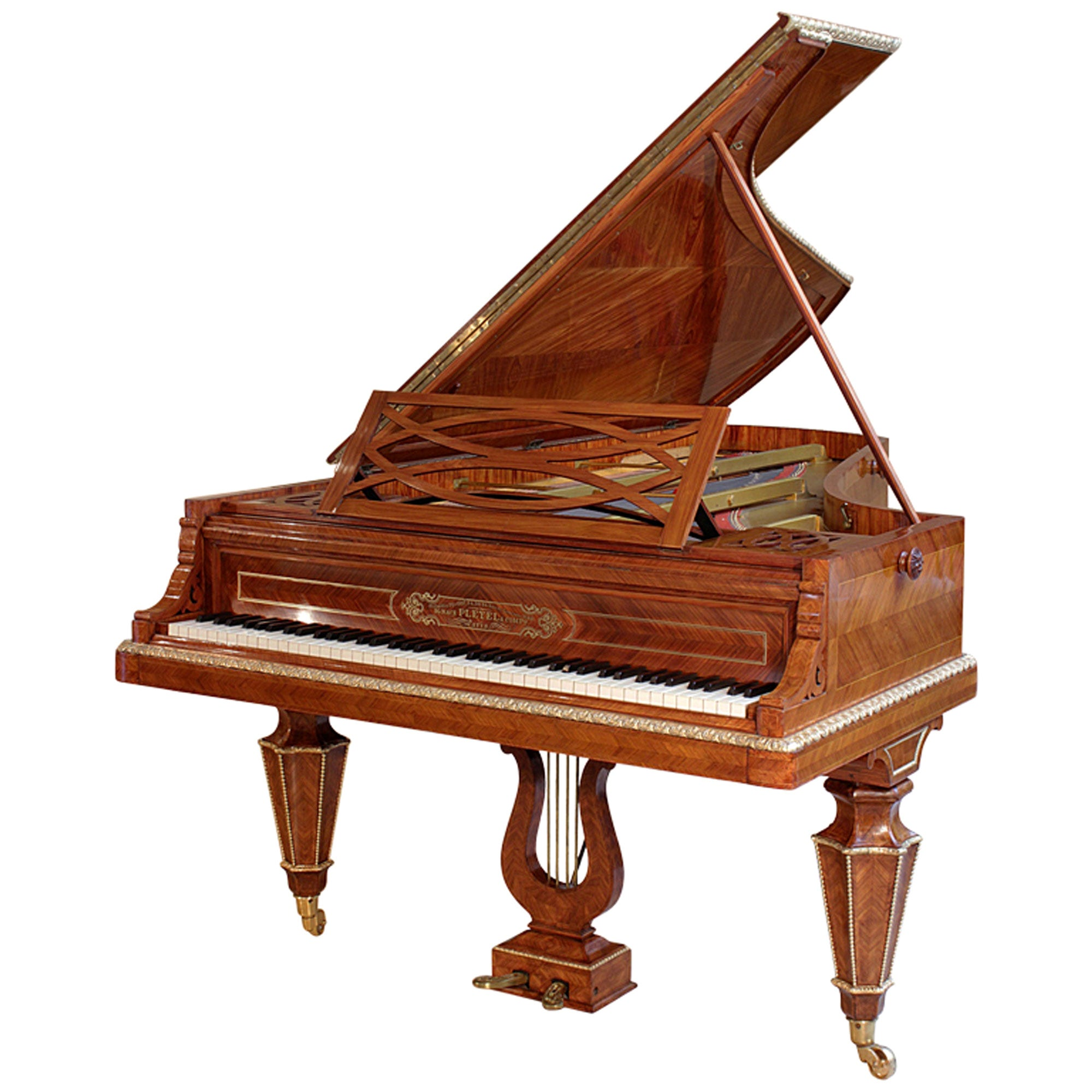 French Mid-19th Century Concert Grand Piano Signed Pleyel