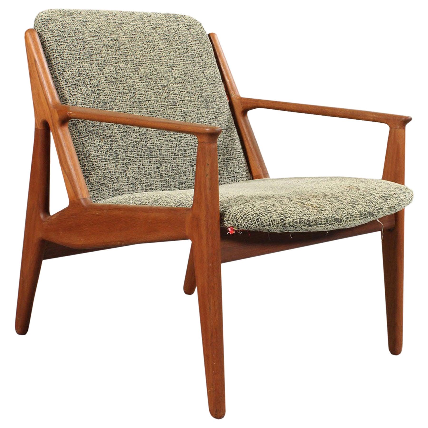 """Arne Vodder Danish Modern """"Ellen"""" Lounge Chair in Teak"""