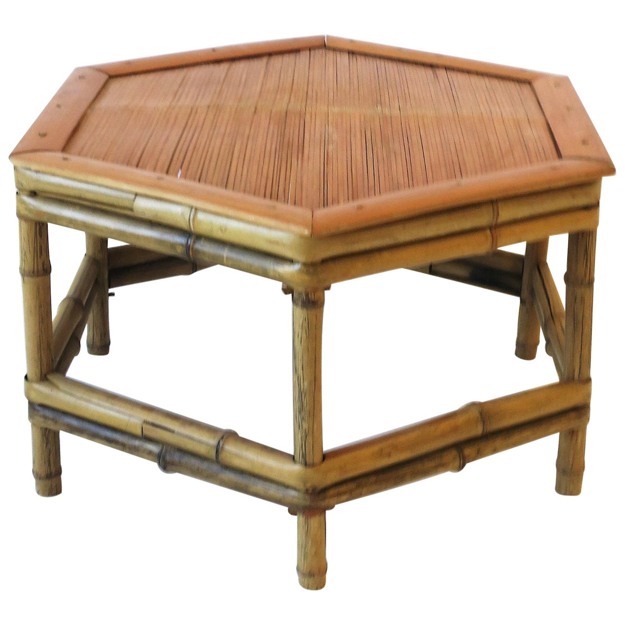 Bamboo Pedestal Side Table or Plant Stand, Low
