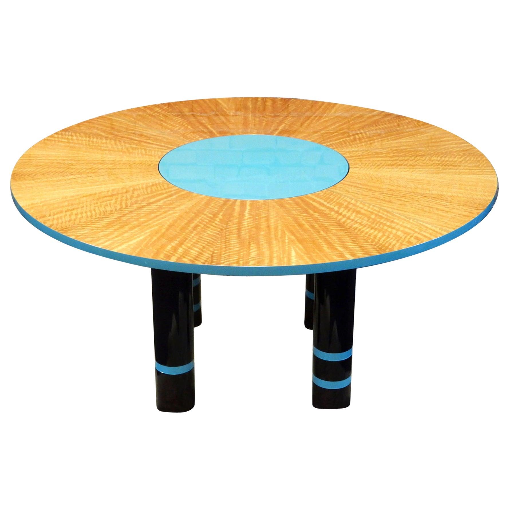 Designer Dakota Jackson Postmodern Exotic Wood Dining Table