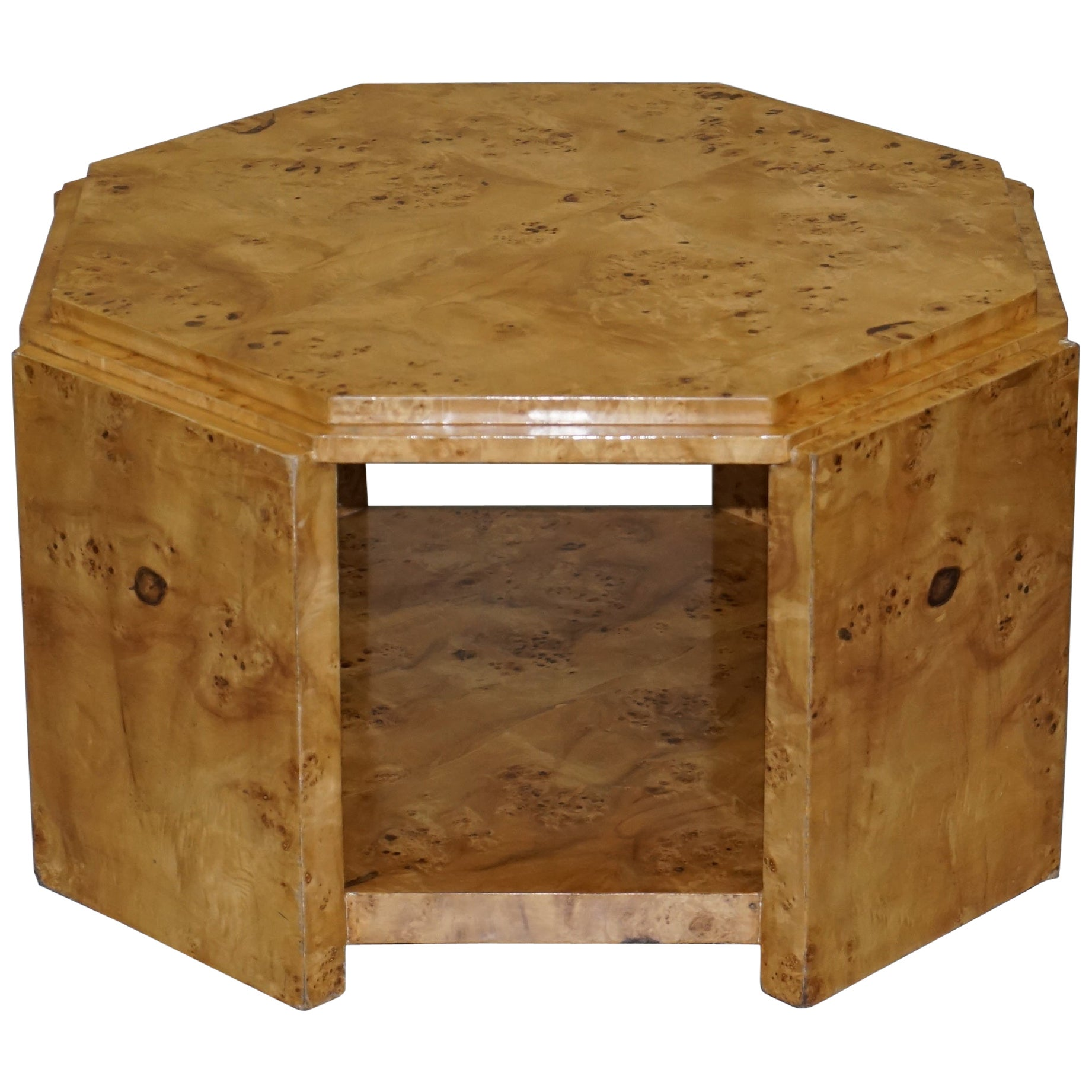 Lovely Burr Walnut Art Deco Style Coffee Table Lovely Timber Patina Part Suite