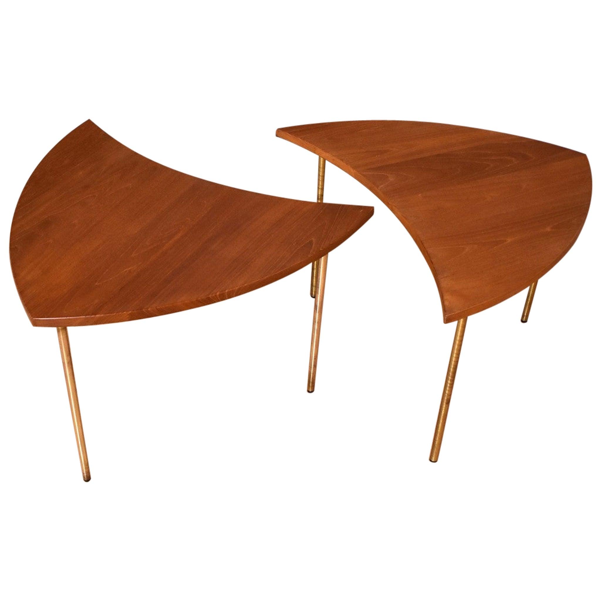 Pair of Peter Hvidt & Orla Molgaard Nielsen Model 523 Pinwheel Tables